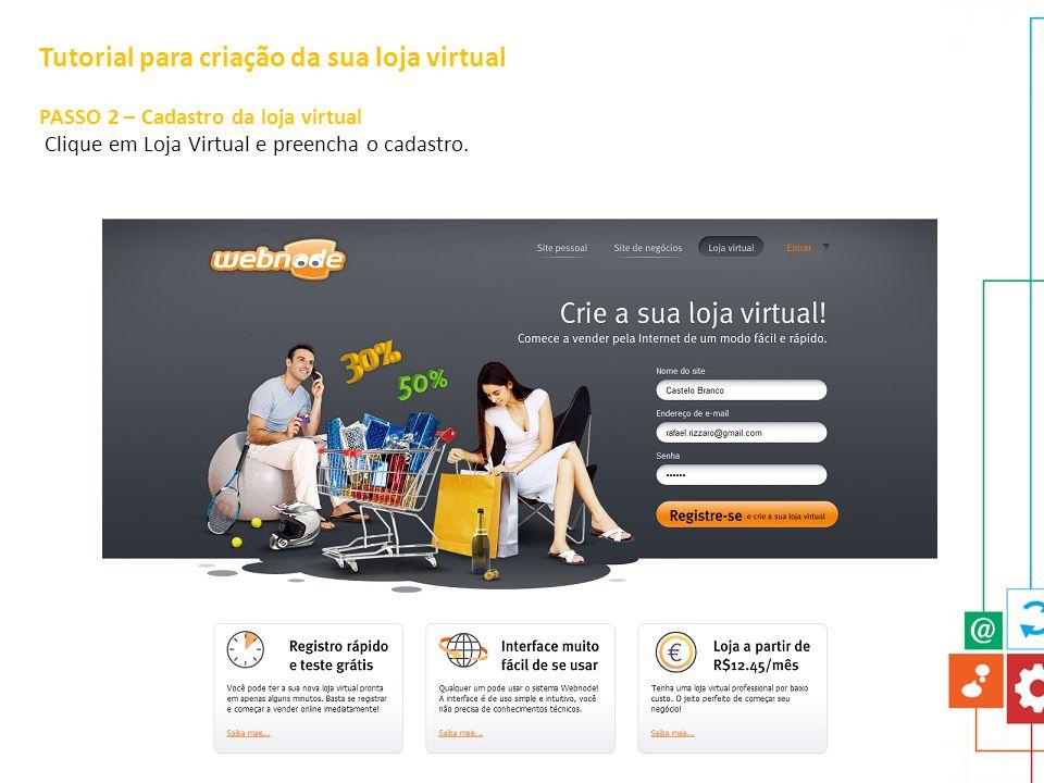 Tutorial para criação da sua loja virtual