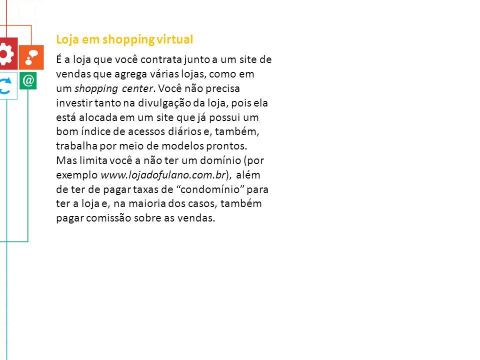 Loja em shopping virtual