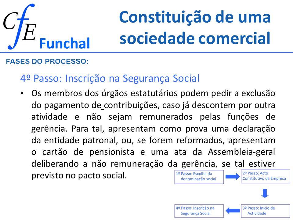 Constituição de uma sociedade comercial