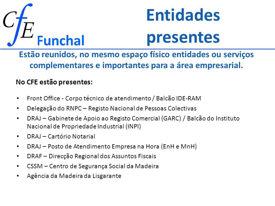 Entidades presentes Funchal