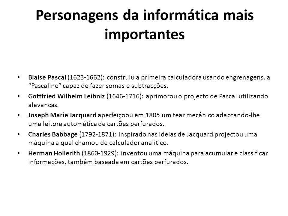 Personagens da informática mais importantes