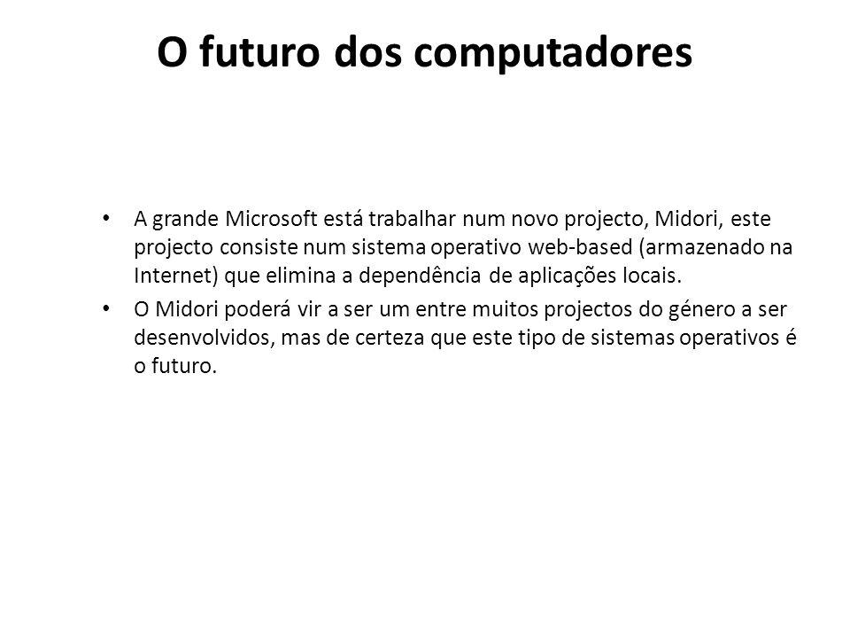 O futuro dos computadores