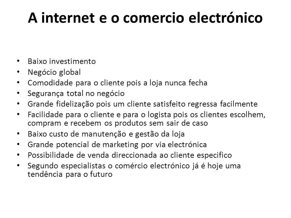 A internet e o comercio electrónico