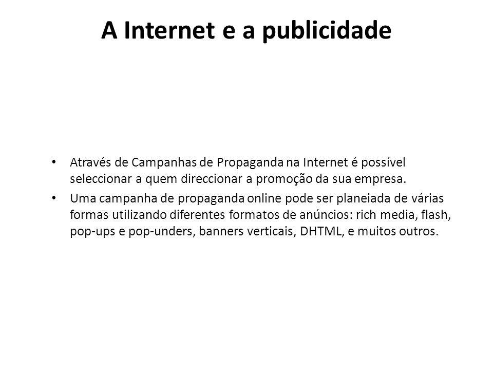 A Internet e a publicidade