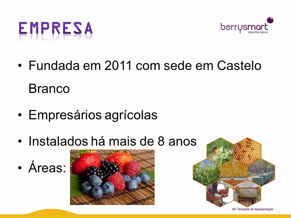 EMPRESA Fundada em 2011 com sede em Castelo Branco