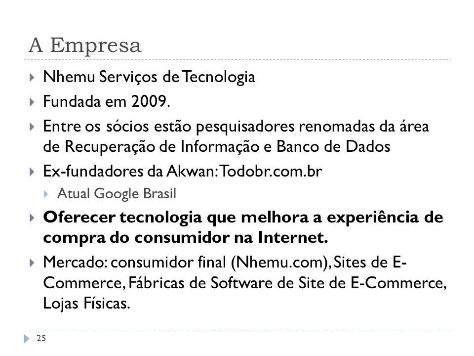 A Empresa Nhemu Serviços de Tecnologia Fundada em 2009.