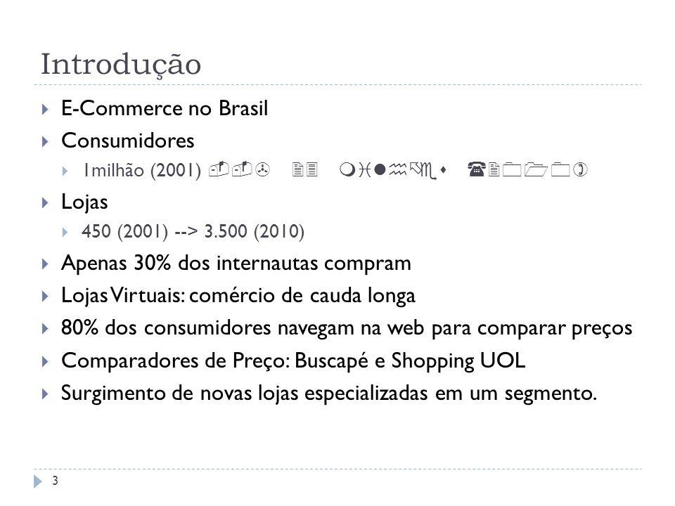 Introdução E-Commerce no Brasil Consumidores Lojas
