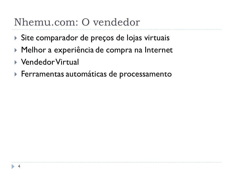 Nhemu.com: O vendedor Site comparador de preços de lojas virtuais