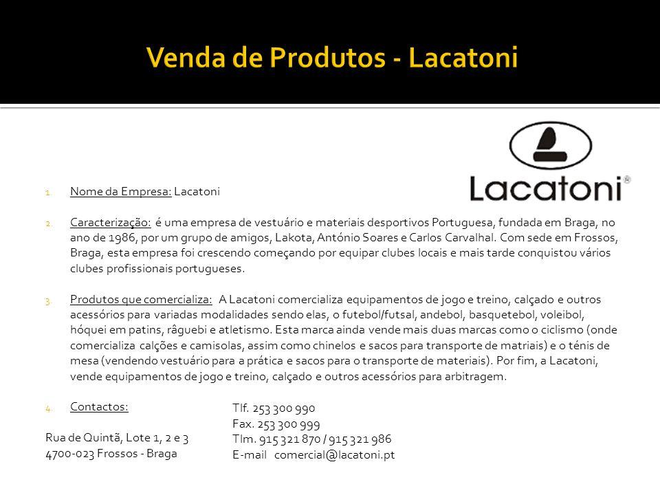 Venda de Produtos - Lacatoni