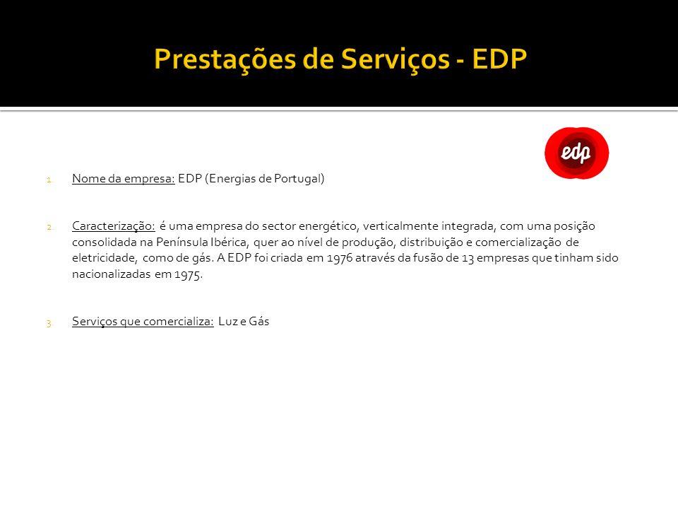 Prestações de Serviços - EDP