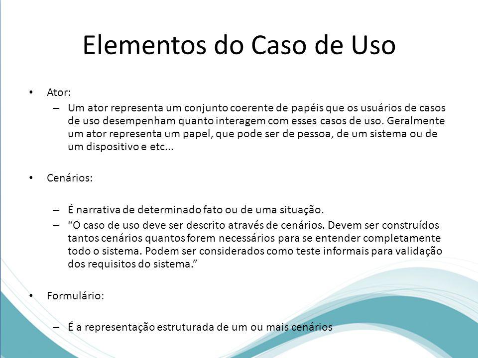 Elementos do Caso de Uso