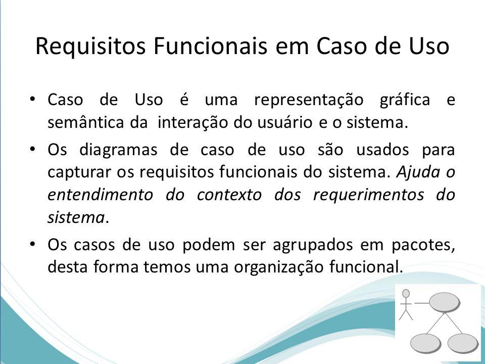 Requisitos Funcionais em Caso de Uso