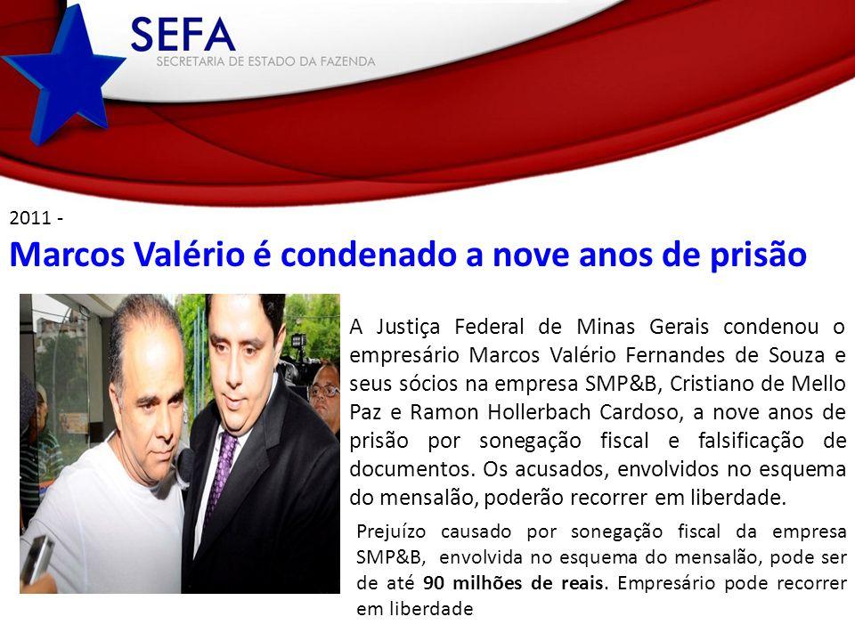 Marcos Valério é condenado a nove anos de prisão