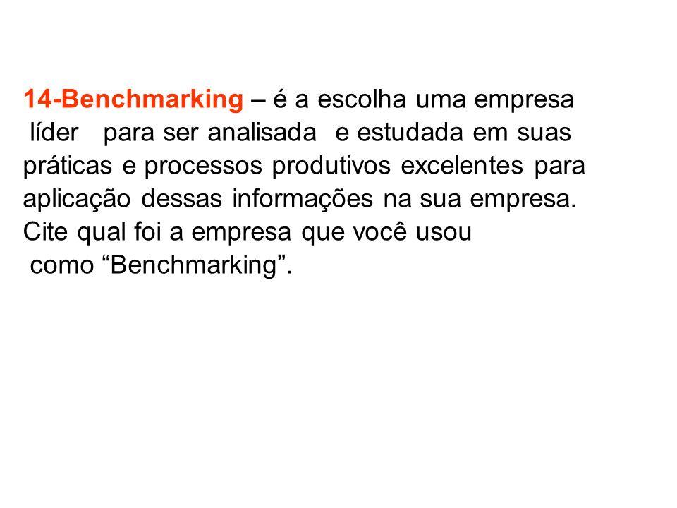 14-Benchmarking – é a escolha uma empresa