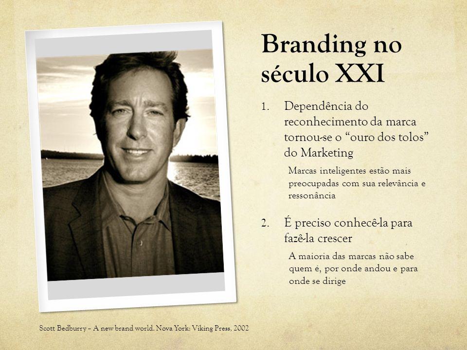 Branding no século XXI Dependência do reconhecimento da marca tornou-se o ouro dos tolos do Marketing.