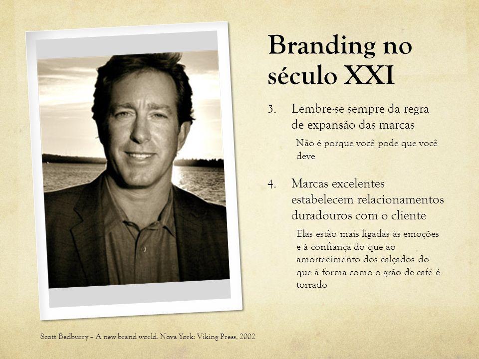 Branding no século XXI Lembre-se sempre da regra de expansão das marcas. Não é porque você pode que você deve.