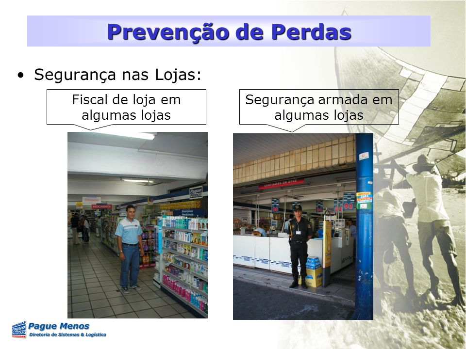 Prevenção de Perdas Segurança nas Lojas: