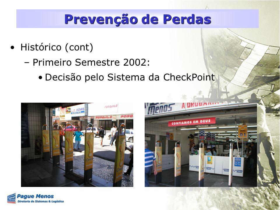 Prevenção de Perdas Histórico (cont) Primeiro Semestre 2002: