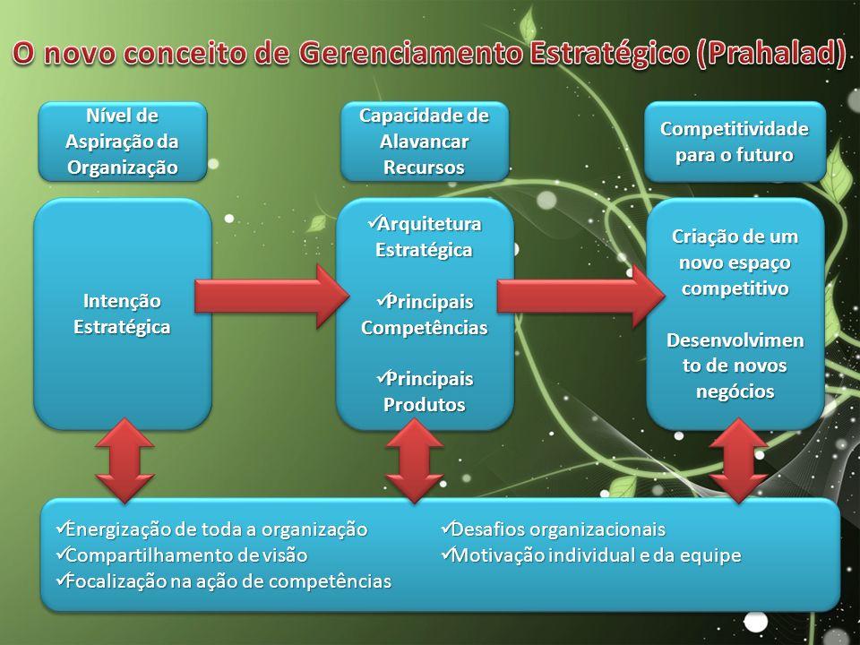 O novo conceito de Gerenciamento Estratégico (Prahalad)