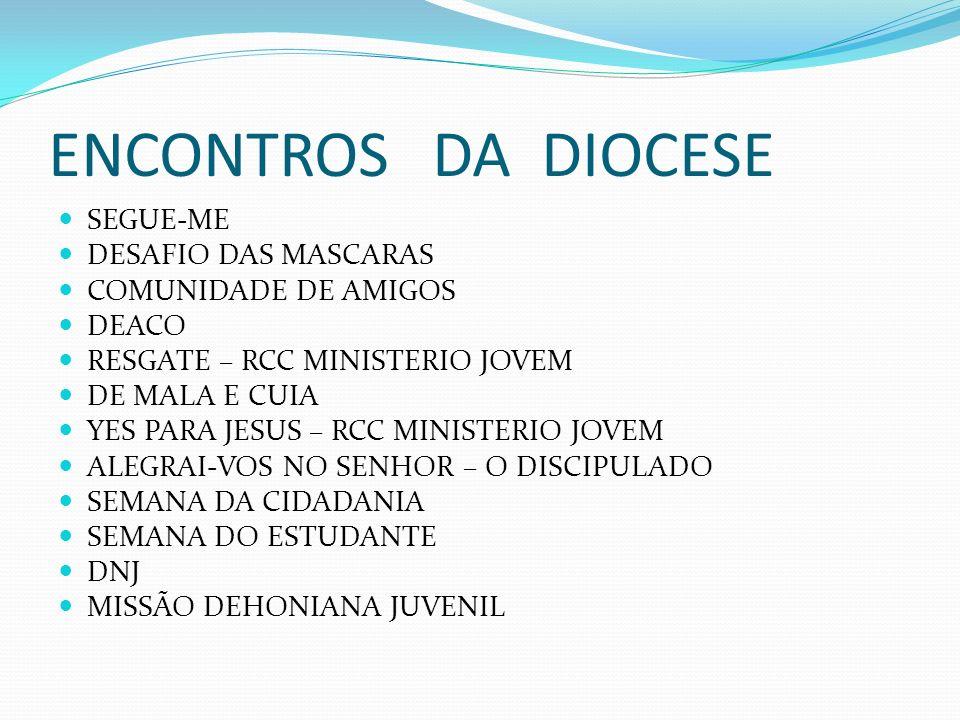 ENCONTROS DA DIOCESE SEGUE-ME DESAFIO DAS MASCARAS