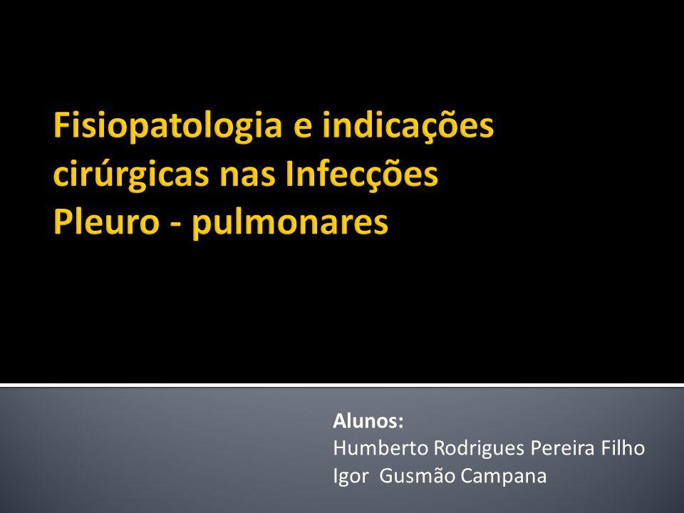 Fisiopatologia e indicações cirúrgicas nas Infecções Pleuro - pulmonares