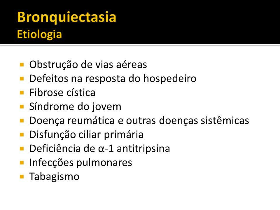 Bronquiectasia Etiologia