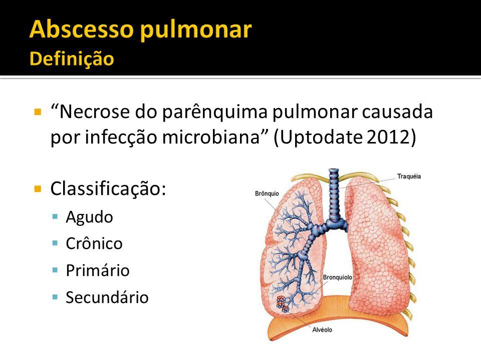 Abscesso pulmonar Definição