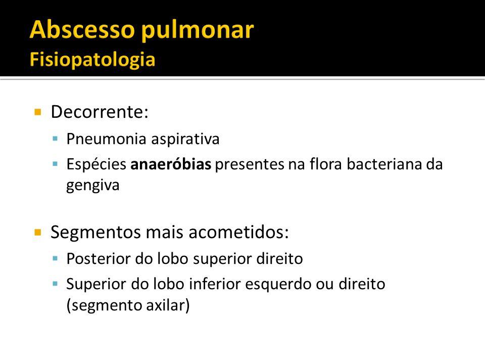 Abscesso pulmonar Fisiopatologia