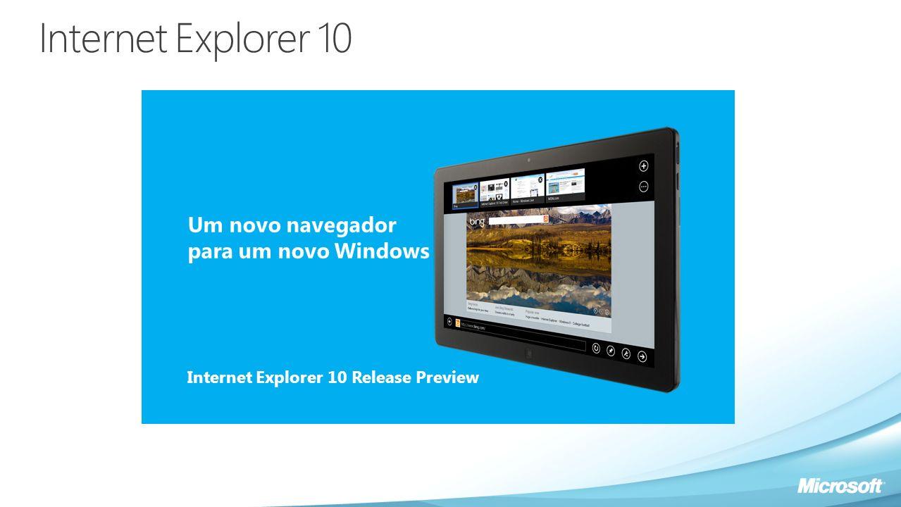Internet Explorer 10 Um novo navegador para um novo Windows