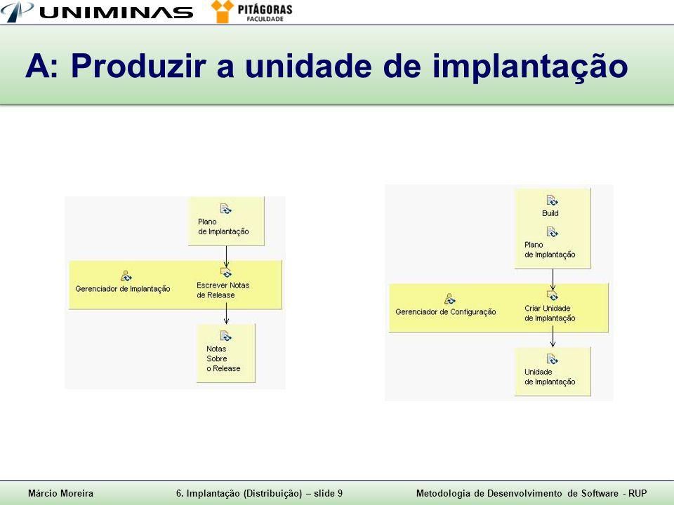 A: Produzir a unidade de implantação