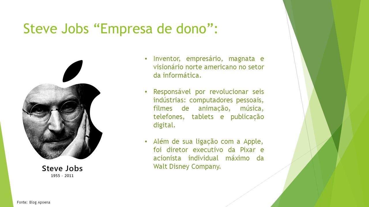 Steve Jobs Empresa de dono :