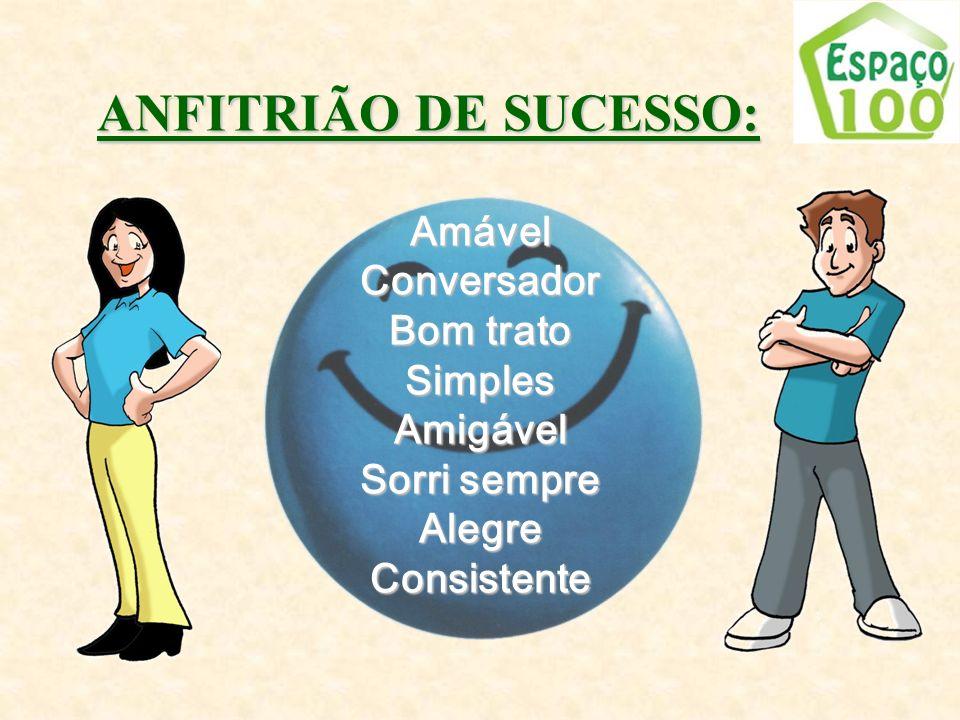 ANFITRIÃO DE SUCESSO: Amável Conversador Bom trato Simples Amigável