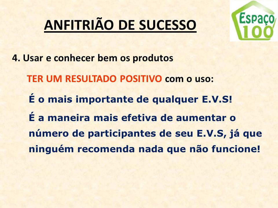ANFITRIÃO DE SUCESSO 4. Usar e conhecer bem os produtos
