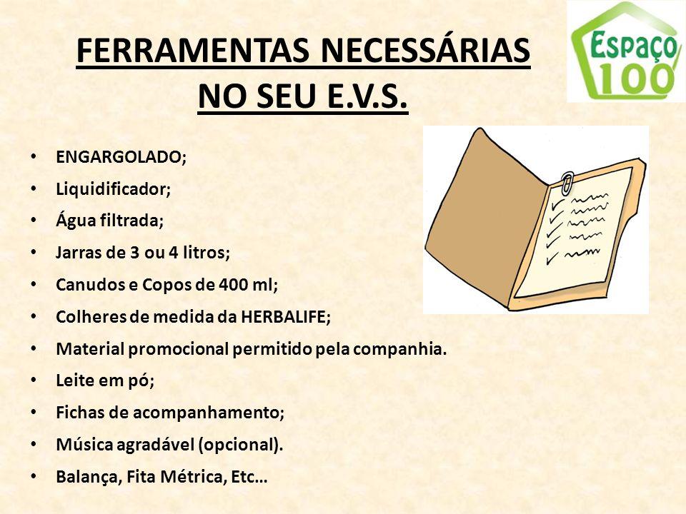 FERRAMENTAS NECESSÁRIAS NO SEU E.V.S.