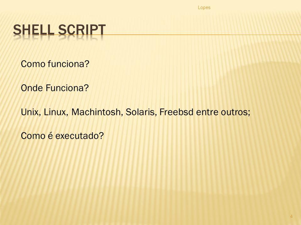 Shell Script Como funciona Onde Funciona