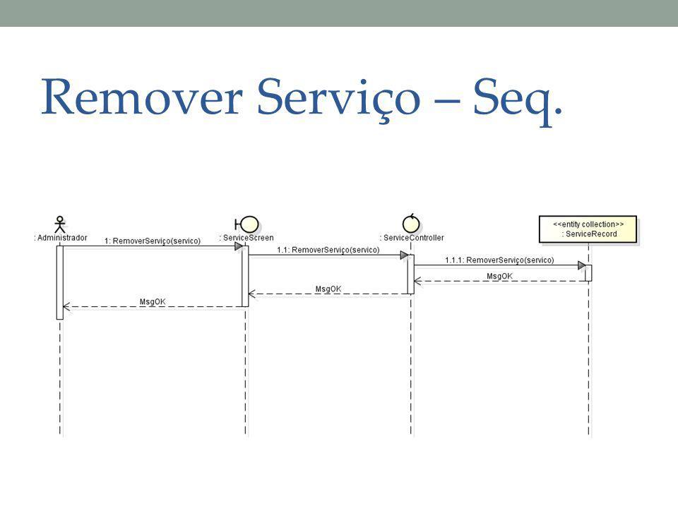 Remover Serviço – Seq.