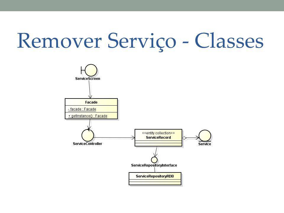 Remover Serviço - Classes