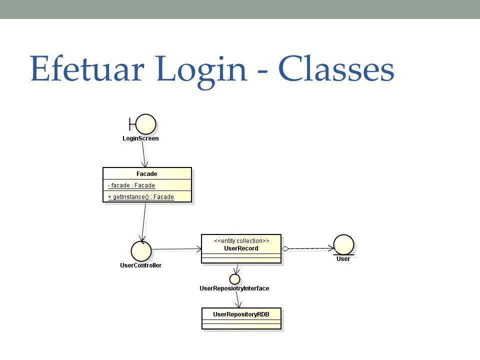 Efetuar Login - Classes