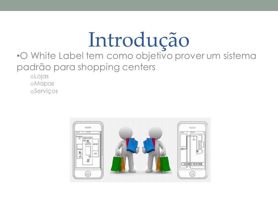 Introdução O White Label tem como objetivo prover um sistema padrão para shopping centers. Lojas. Mapas.