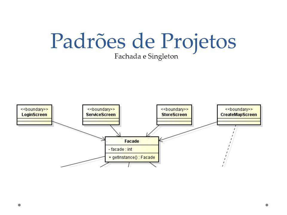 Padrões de Projetos Fachada e Singleton