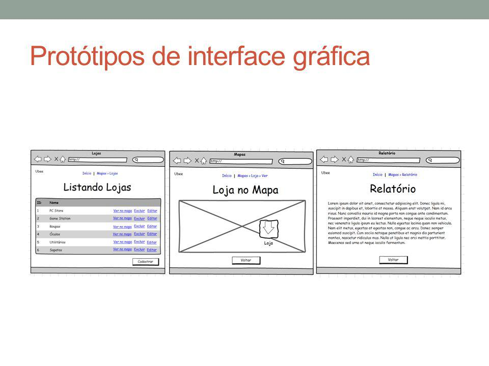 Protótipos de interface gráfica