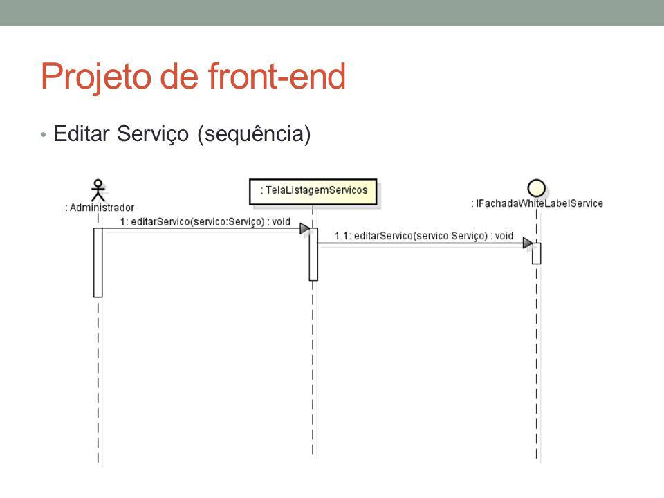 Projeto de front-end Editar Serviço (sequência)