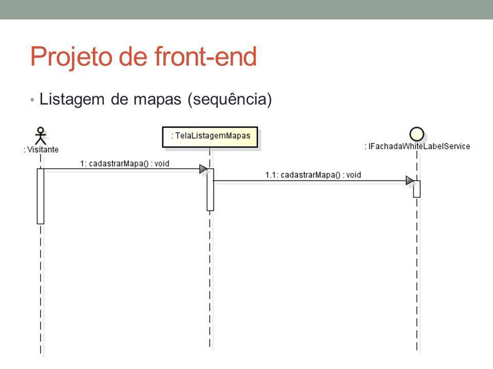 Projeto de front-end Listagem de mapas (sequência)