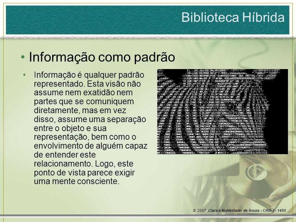 Informação como padrão