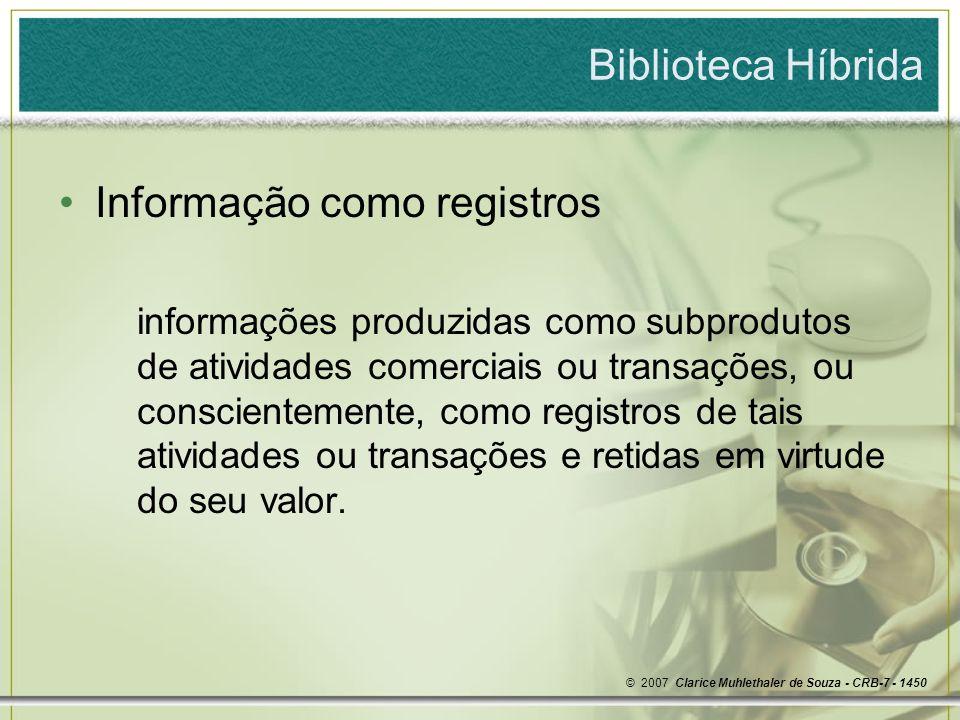 Informação como registros
