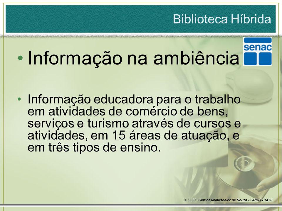 Informação na ambiência