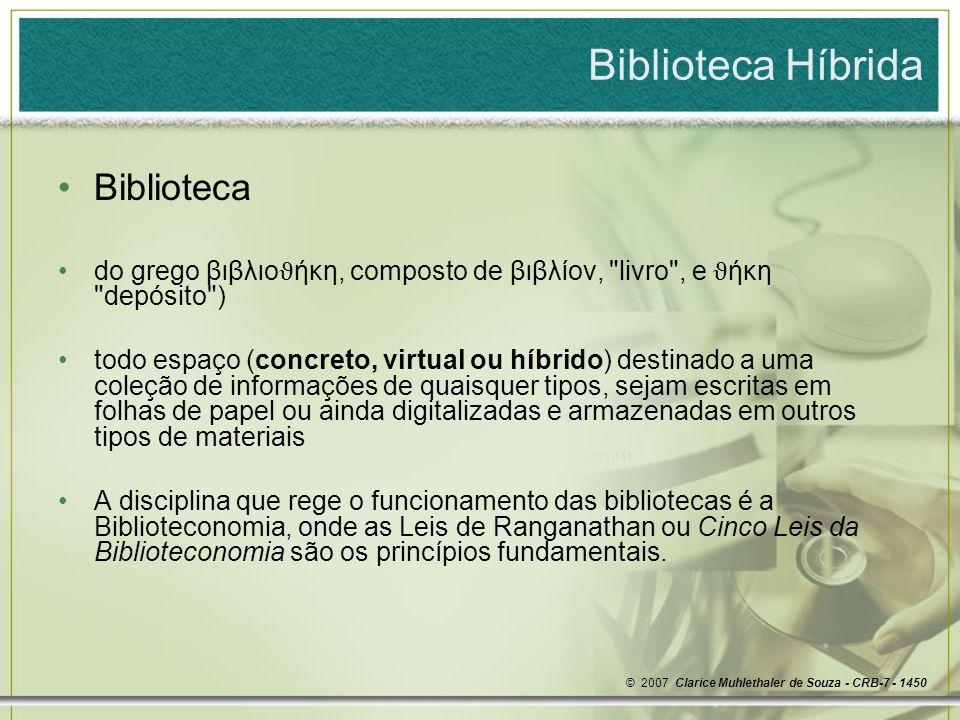 Biblioteca Híbrida Biblioteca