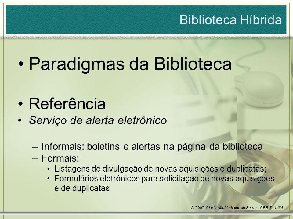 Paradigmas da Biblioteca