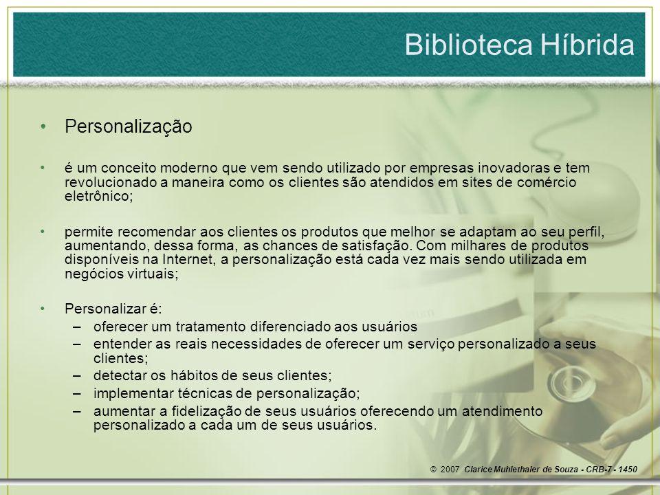 Biblioteca Híbrida Personalização