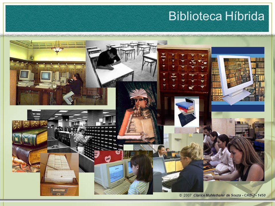 Biblioteca Híbrida © 2007 Clarice Muhlethaler de Souza - CRB-7 - 1450